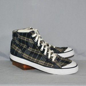 Polo Ralph Lauren Madras Plaid Sneakers Size 10.5D